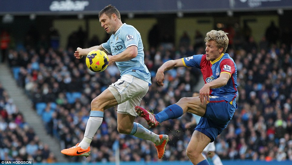 Chance with the big boys: Crystal Palace's Jonathan Parr suffered a serious knee injury at the end of last season but has got himself back in the team since