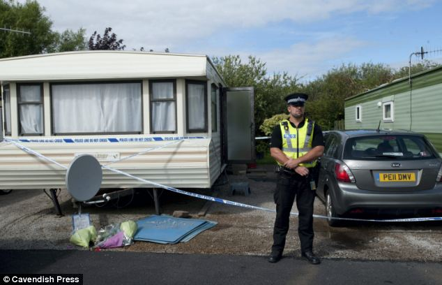 Attack: The 26-year-old crept around on the roof of the couple's caravan, before forcing his way into the vehicle