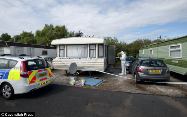 Murder scene: Father-of-one Mason tracked down the couple to Stud Holme Farm Holiday Park (pictured)