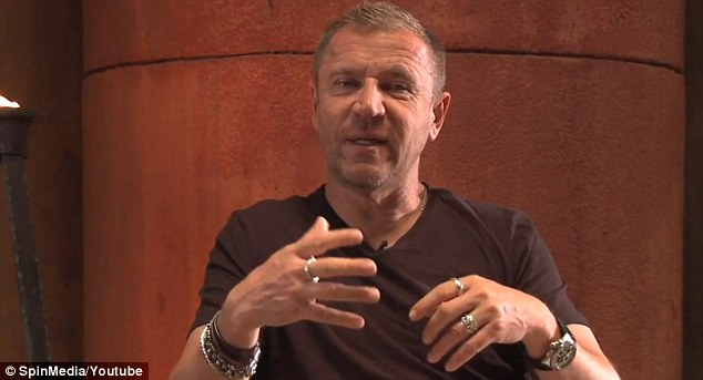 In the chair: Director Renny Harlin - who was behind The Long Kiss Goodnight - talks about the movie in the behind the scenes footage
