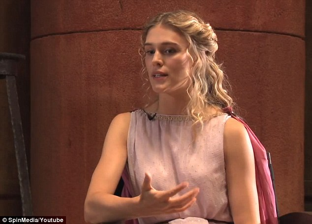 Up and coming: French model and actress Gaia Weiss also stars in the movie alongside Kellan