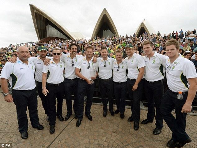 Sweetest feeling: Winning Aussies outside Sydney Opera House