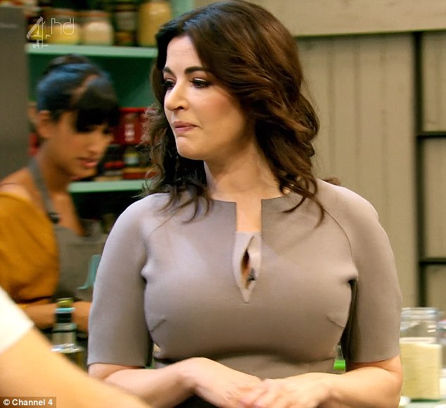 Bellissima! Nigella has pulled out all the stops with this glamorous outfit for the second episode of The Taste, set to air next week