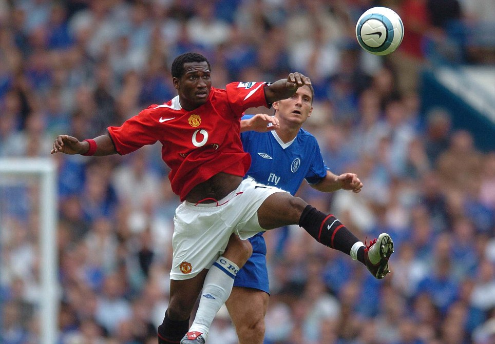 Not living up to the hype: Eric Djemba-Djemba had a disappointing time at Manchester United and lost in the 2005 semi-final to Chelsea