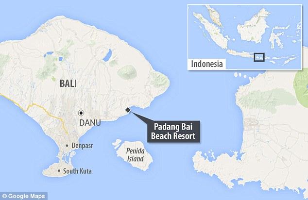 Padang Bai resort where the pair died