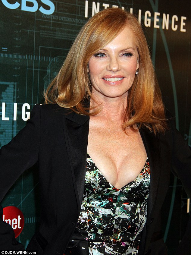 Turning heads: Marg Helgenberger was hard to miss at the red carpet premiere party for her new show in Las Vegas, Nevada on Tuesday night