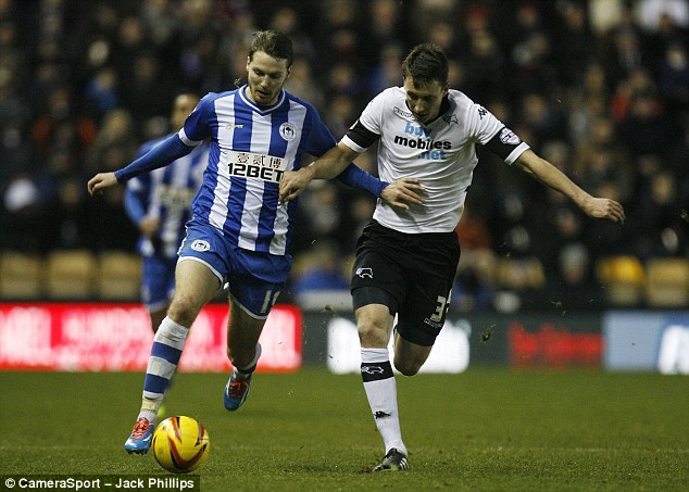 Successful loan move: United youngster Nick Powell (left) in action for Wigan