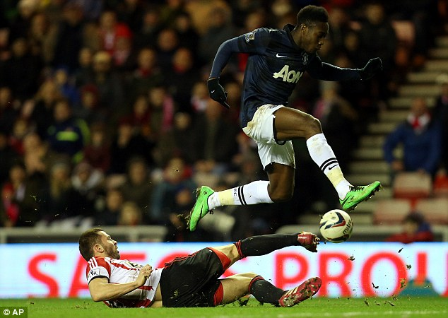 Falling at the final hurdle: Danny Welbeck has scored more goals than he did last season but is still lacking