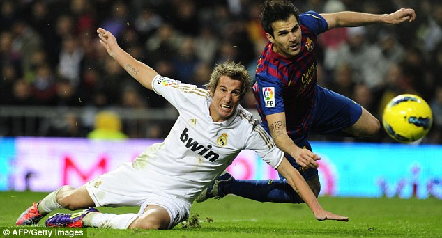 On the slide: Coentrao has fallen out of favour at Madrid since signing from Benfica in 2011