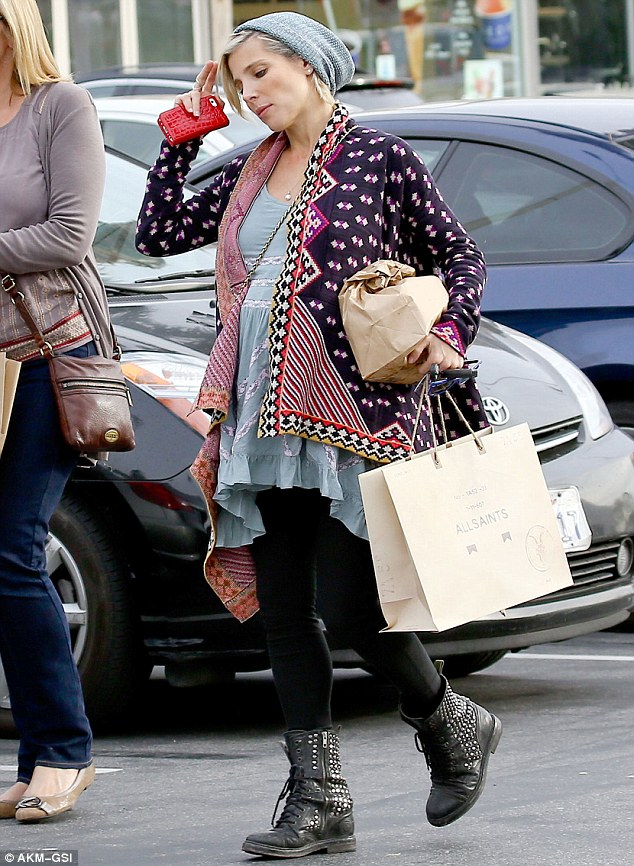 Shop till she drops: Elsa Pataky was seen shopping in Los Angeles on Tuesday with a friend