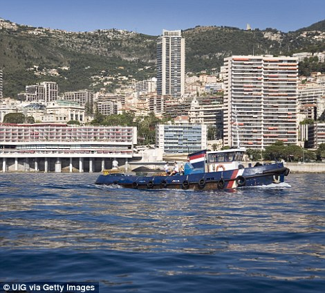 A view of Monte-Carlo and skyline from the sea. The region is well-known for high stakes gambling