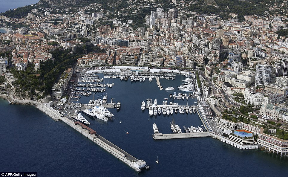 The real thing: An aerial view of a harbour in Monaco. It is a sovereign city-state located on the French Riviera and is world-famous as a tourist destination for celebrities and the wealthy