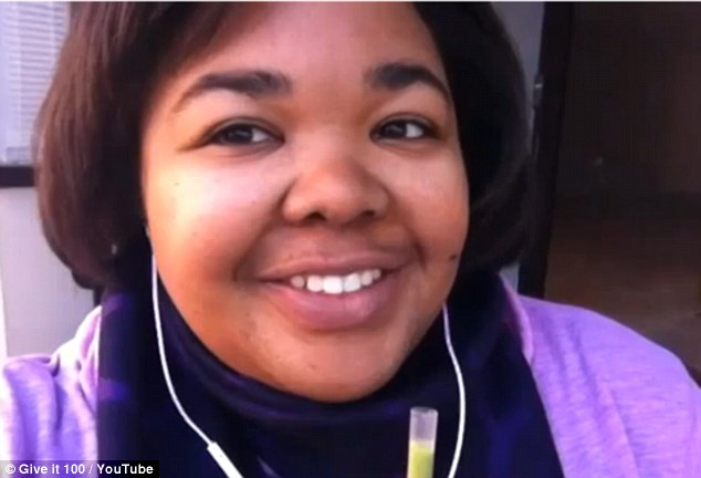 Getting her smile back: 100 days into her project Ms Shurn says she's 'found love in myself'