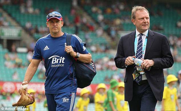 Committee: Flower with new ECB chief Paul Downton (right)
