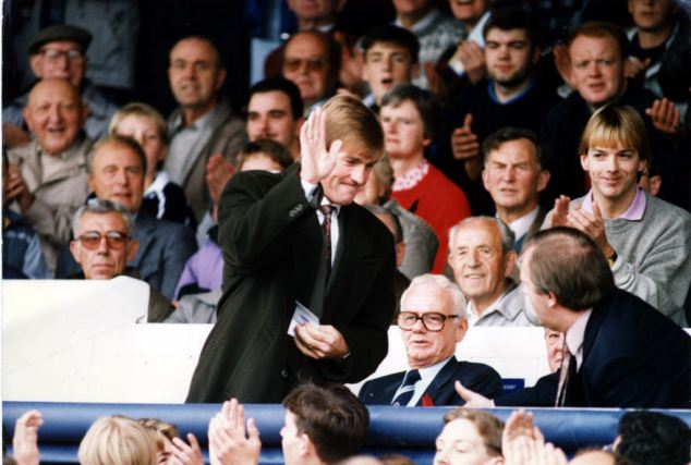 Decline: As Dalglish waved goodbye in February 1991, Liverpool eventually lost the league to Arsenal by seven points