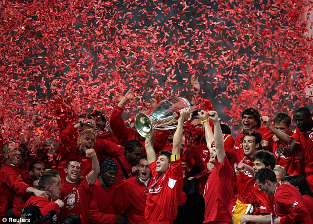 Back then: Winning the Champions League in 2005 brought the glory days back to Anfield, but they often struggled in the Premier League to manage a title challenge