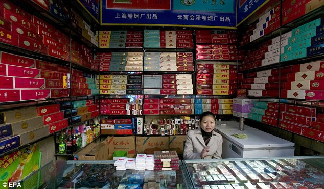 Key market: China is home to some 300million smokers and is the world's largest consumer of tobacco