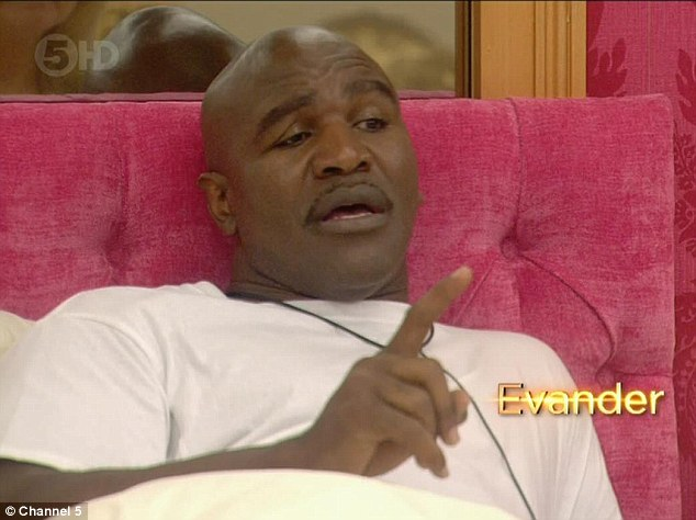 He's got a big family: Evander told Lind about his huge extended family