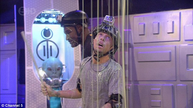 Hero: Dappy was sent to rescue Liz, Lee and Jasmine who had been held captive on the UFO