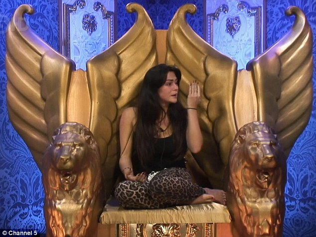 Tears: Casey was upset when she went to Big Brother's Diary Room