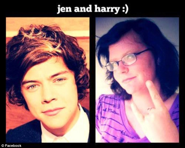 Obsessed: Jennifer Feagley lists her occupation Facebook as being 'married to Harry Styles'