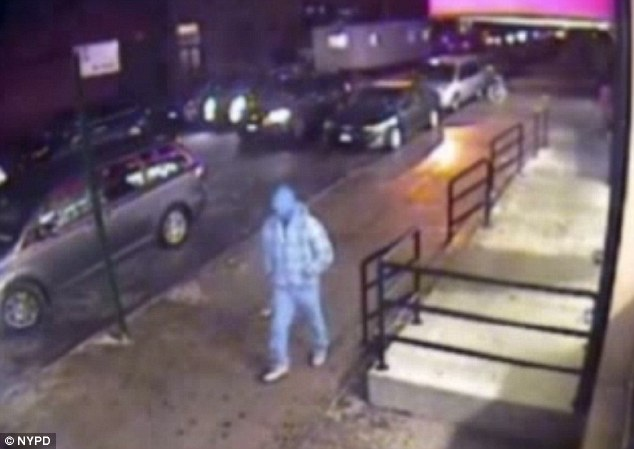 A suspect in the kidnap and murder of Stark is seen on security camera footage on the night of January 2. The man arrived at the scene in the minivan at 5pm and allegedly abducted Stark at 11.35pm