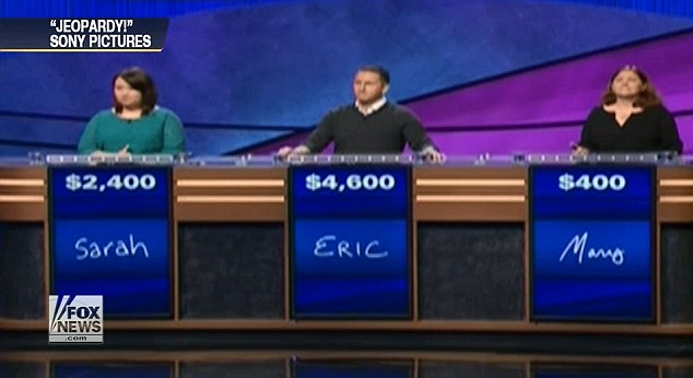 Who is she: All three Jeopardy contestants were stumped by the $800 question