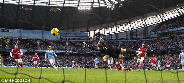 Same treatment: Pellegrini's men also hit Spurs' north London rivals Arsenal for six
