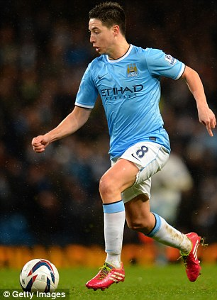 Transformer: Samir Nasri has stopped sulking and turned in some superb displays