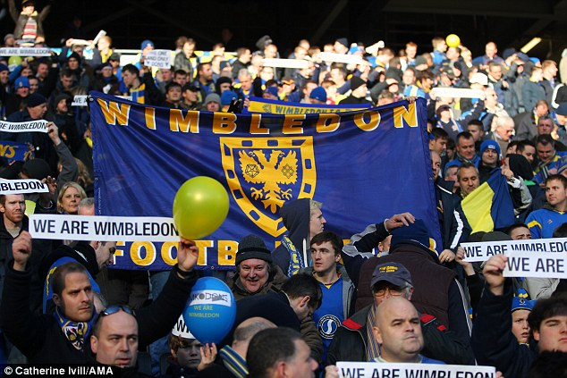 Phoenix: AFC Wimbledon rose from the ashes of Wimbledon FC, who were moved to Milton Keynes