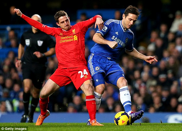 Player of note: Frank Lampard (right), challenged by Liverpool's Joe Allen, has an estimated worth of £31m