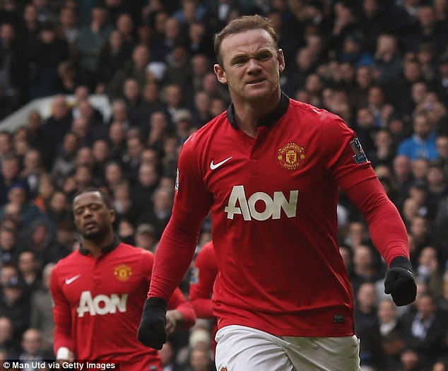 Top of the pile: Wayne Rooney is the richest star in the Premier League with an estimated net worth of £45m
