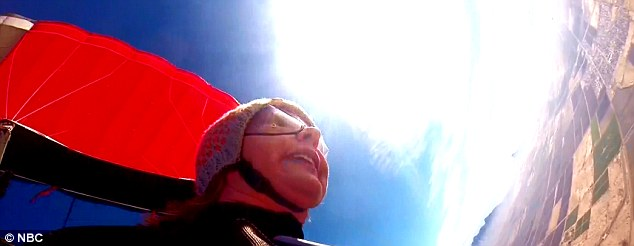 Soaring: The former Congresswoman showed off her fearless nature with a skydive on January 8