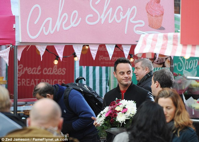 Treat time: The Newcastle-born presenters lingered past a cake stall