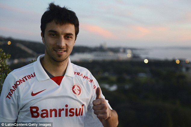 Thumbs up: Internacional forward Ignacio Martin Scocco is on Poyet's January shopping list