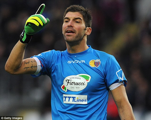 Shot stopper: Catania's Argentina international goalkeeper Mariano Andujar could be on his way to Sunderland