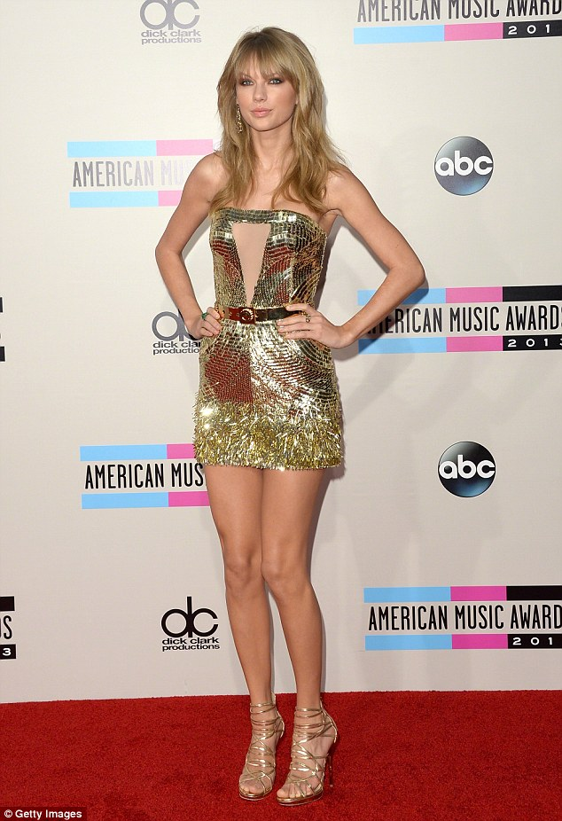 Her tour has legs: The 24-year-old was golden at the American Music Awards last year