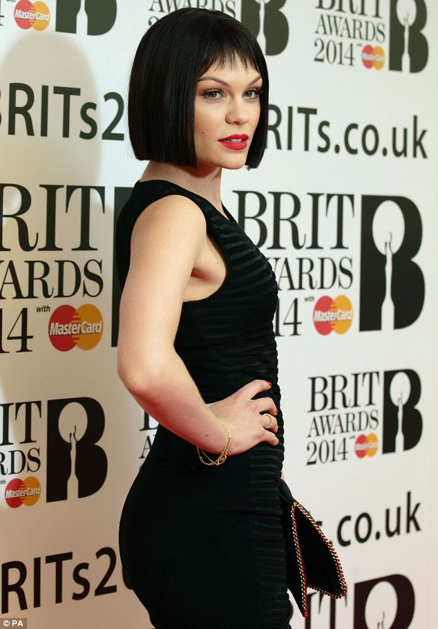 Experimenting: Jessie is currently growing out her hair after shaving her locks for Comic Relief last year