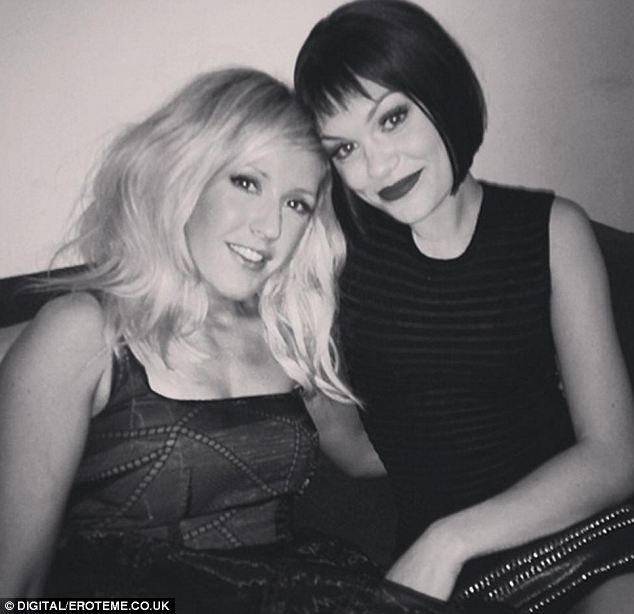 BFFS: Jessie J and Ellie Goulding pose together backstage at the nominations