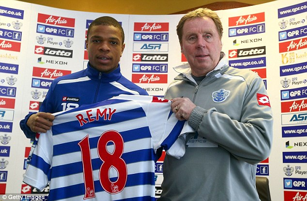 Coup: This time last season, QPR landed Loic Remy (left), but West Ham's chances of a marquee signing to bolster their survival bid look bleaker with every heavy defeat