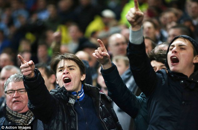 Fury: West Ham fans vent their frustration at Sam Allardyce and his side on Wednesday night