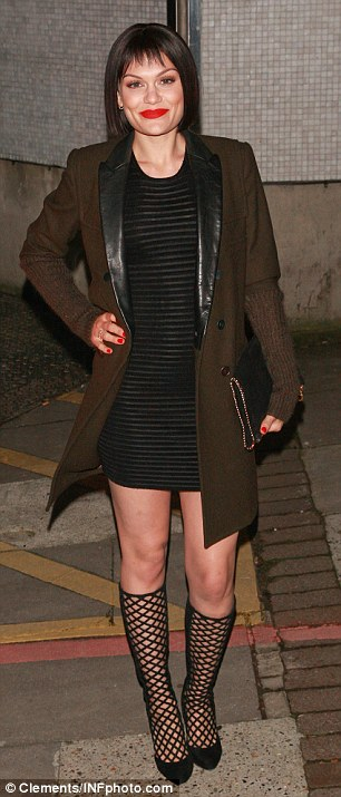 January 9 2014: Jessie J leaves the London Studios in London, UK after filming the Brit Nomination Awards Show
