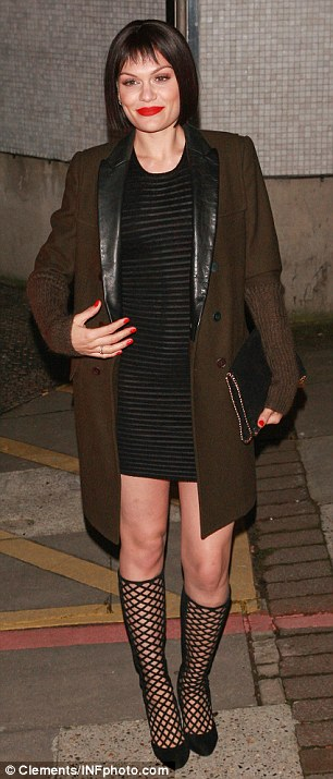 Jessie J leaves the London Studios in London, UK after filming the Brit Nomination Awards Show