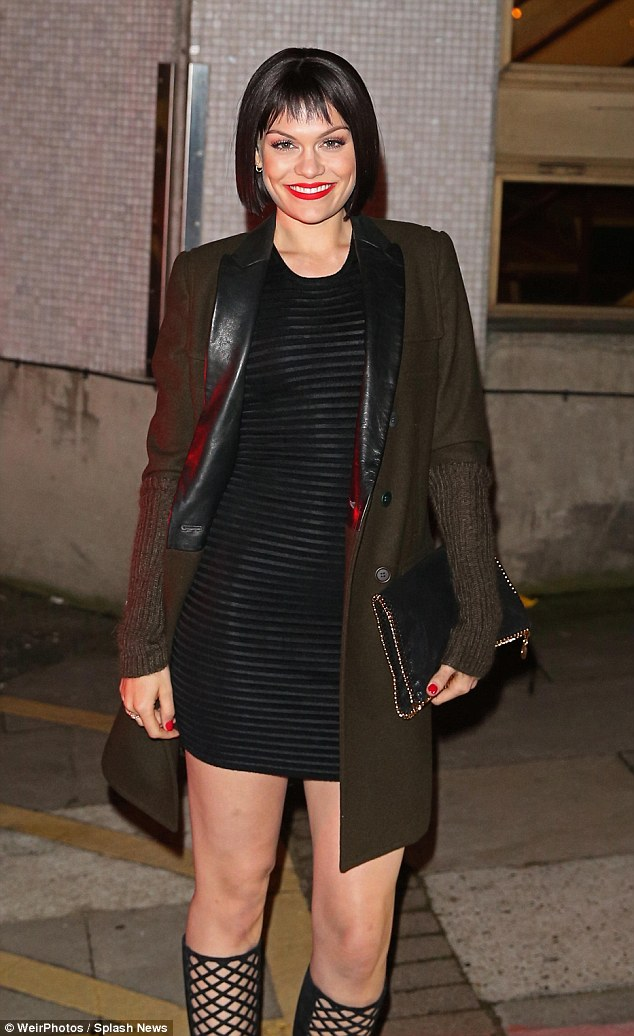 Maintaining her look: Jessie J retained her outfit until the very