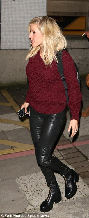 Ellie Goulding & Jessie J Leaving The Brits Nominations At ITV Studios In London.