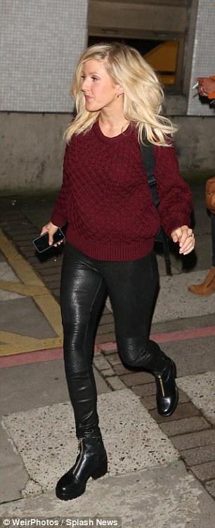 Ellie Goulding & Jessie J Leaving The Brits Nominations At ITV Studios In London