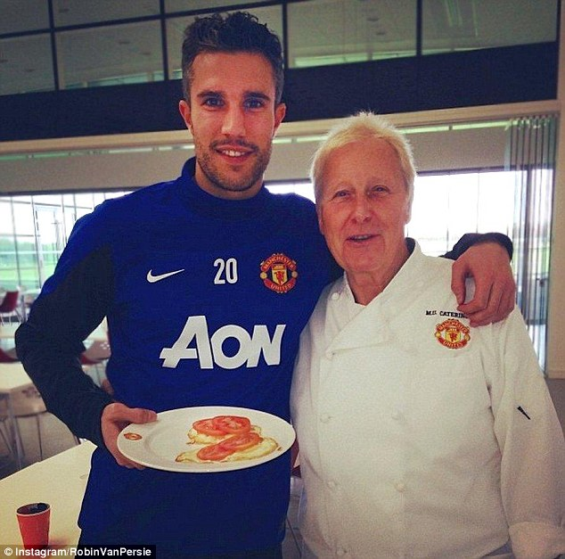 Egg-ceptional: Robin van Persie posted a picture of his breakfast with head chef Mike Donnelly to Instagram