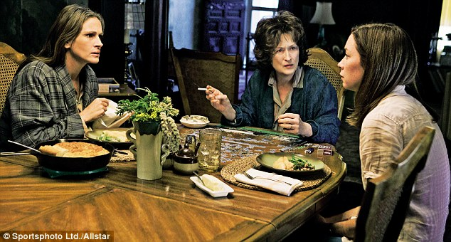 'I couldn't say no... Working with Meryl (Streep) was a dream. She is the best there is,' said Julia on filming August: Osage County (also pictured: Julianne Nicholson)
