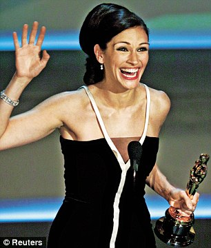Julia has collected three Oscar nominations and won with Erin Brockovich in 2001