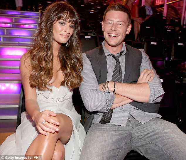Tribute: Lea has dedicated the tune to the memory of her beau Cory Monteith who died after a drugs bender last year